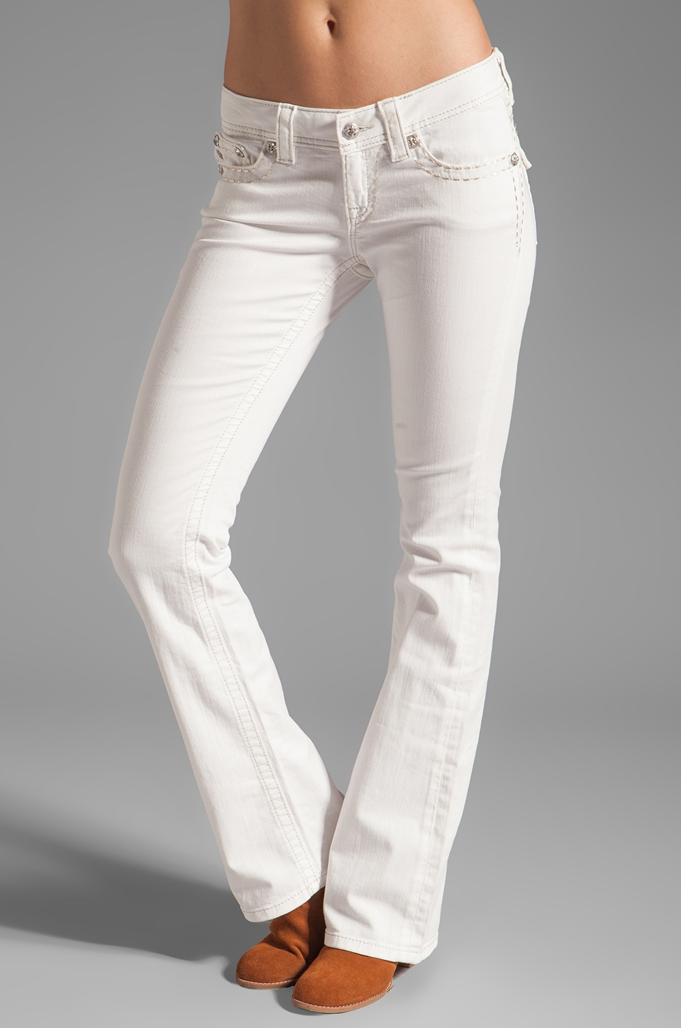 Miss Me Jeans Boot in White