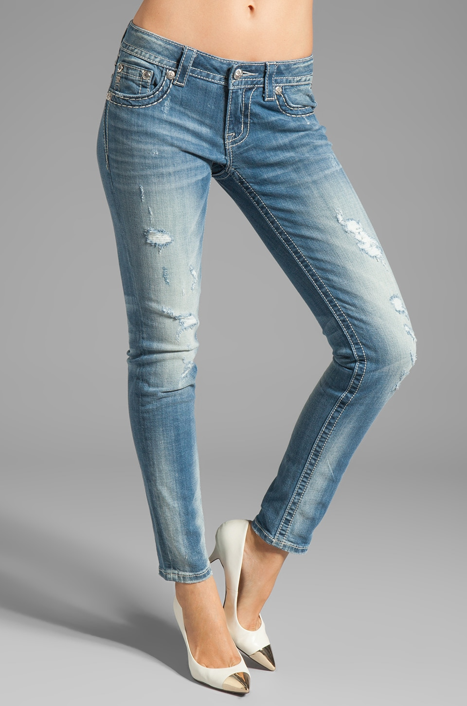 Miss Me Jeans Ankle Skinny in Med 130