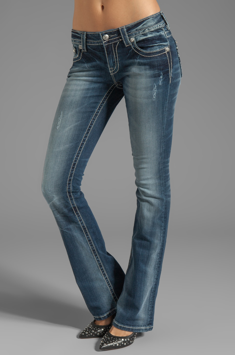 Miss Me Jeans Bootcut in DK 201