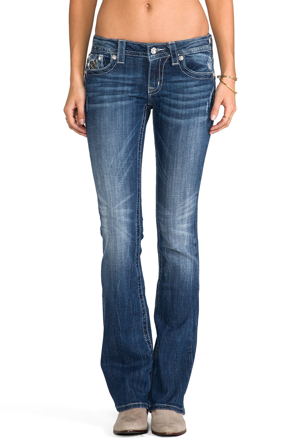 Miss Me Jeans Bootcut in MED 166