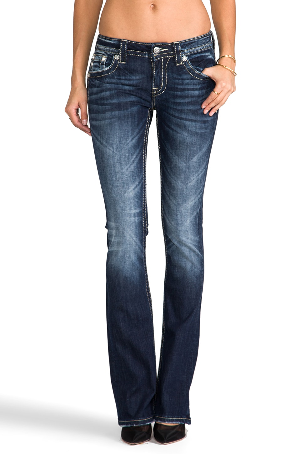 Miss Me Jeans Bootcut in DK 252