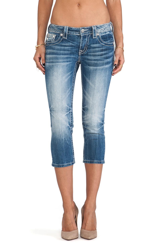 Miss Me Jeans Capri in MED 187