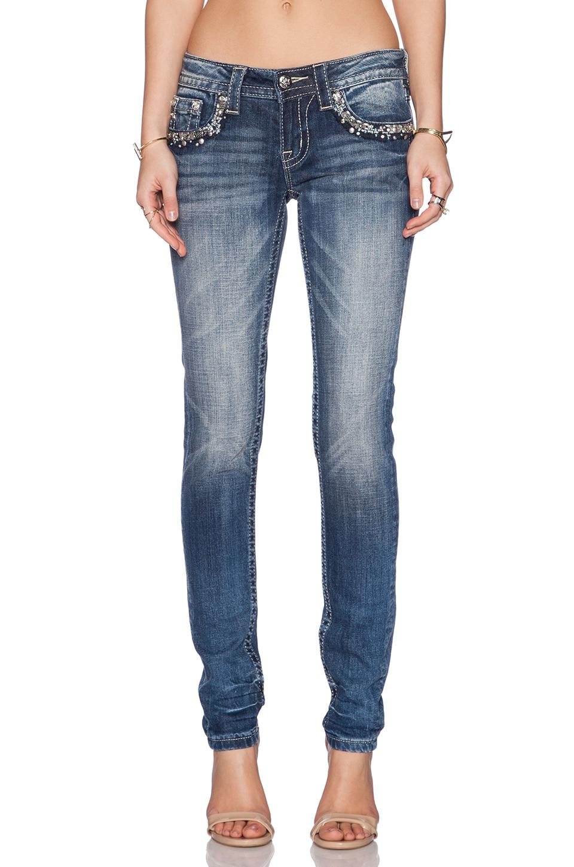 Miss Me Jeans Skinny Jeans in MED 282
