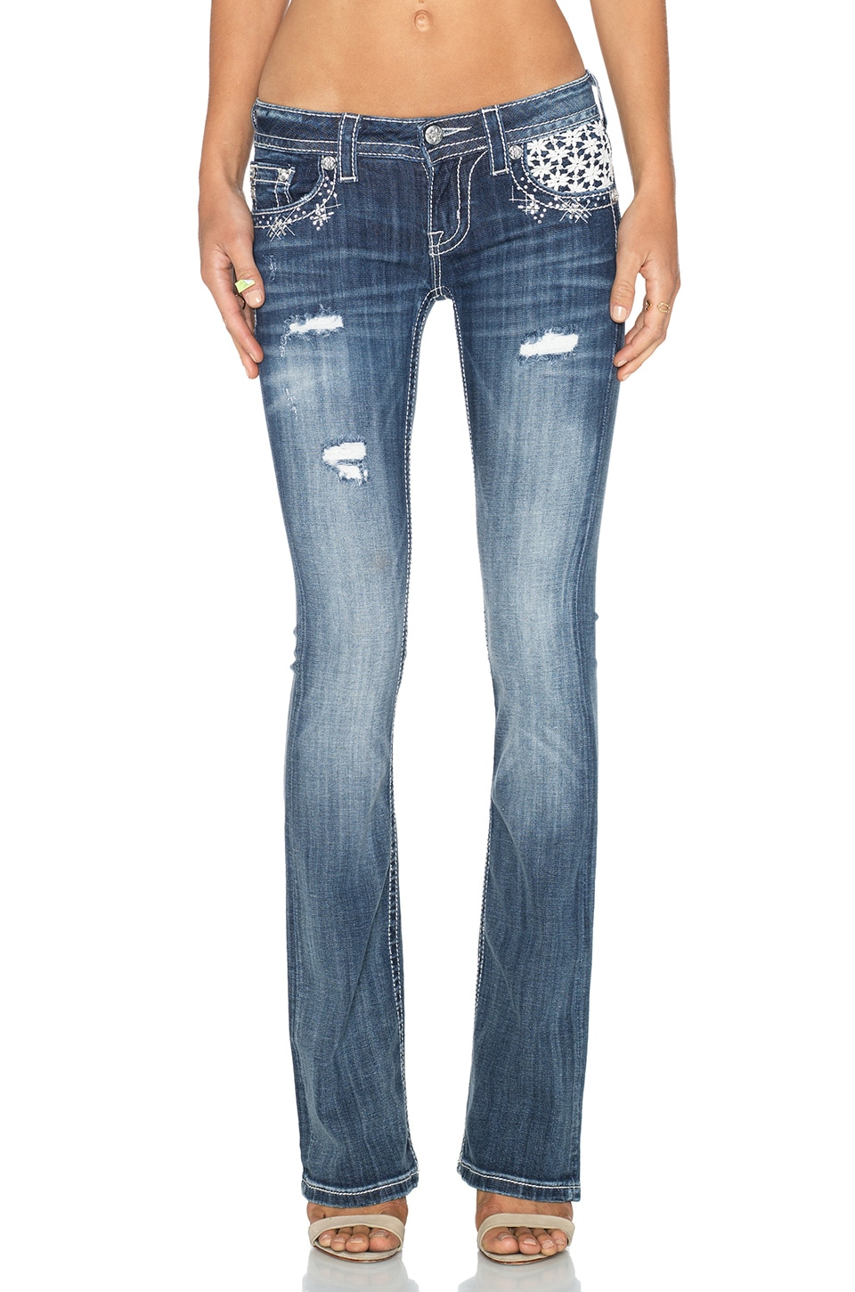 Miss Me Jeans Bootcut in MED 10
