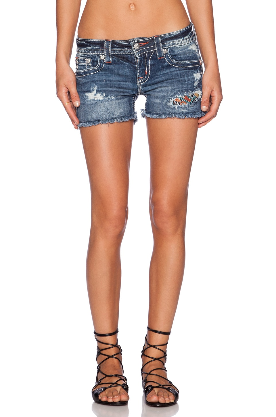 Miss Me Jeans Shorts in MED 293