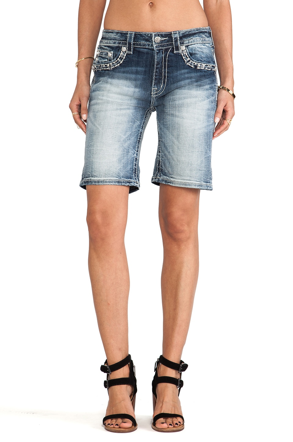 Miss Me Jeans Shorts in MED 219
