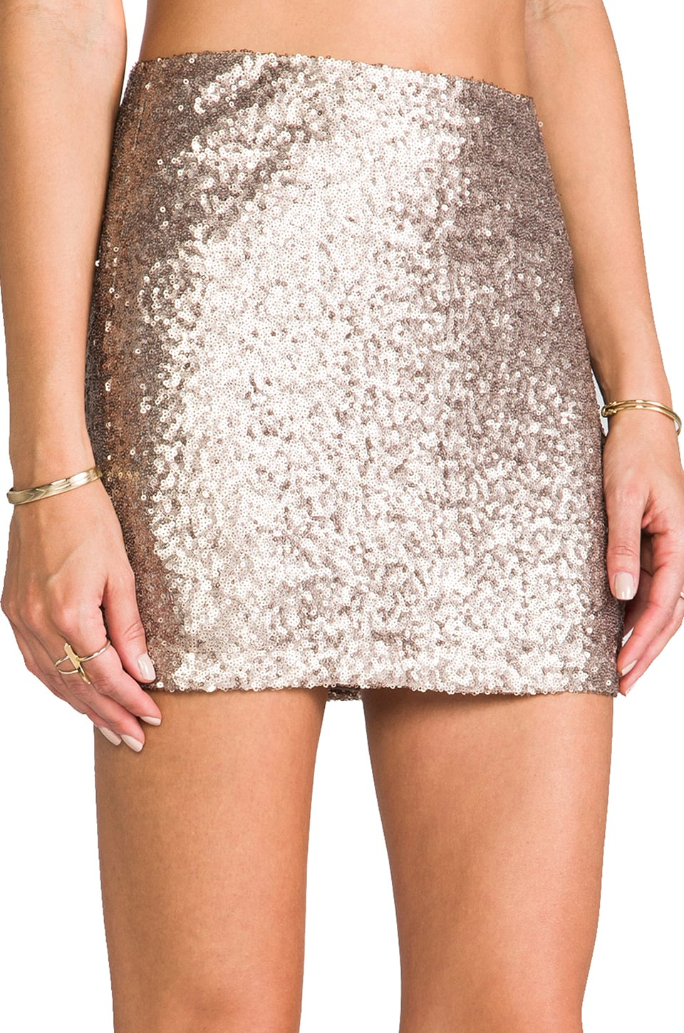 MM Couture by Miss Me Sequin Mini Skirt in Gold | REVOLVE