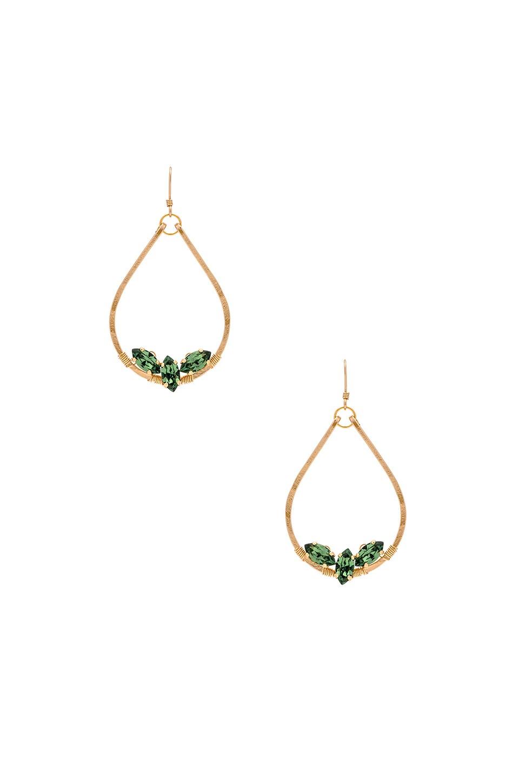 MIMI & LU Esther Tear Earrings in Metallic Gold