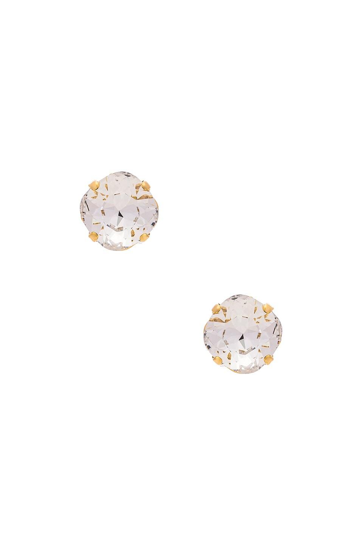 MIMI & LU Penelope Studs in Metallic Gold