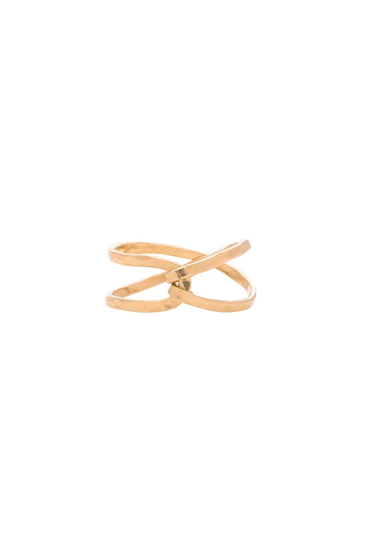 MIMI & LU Tatum Ring in Metallic Gold