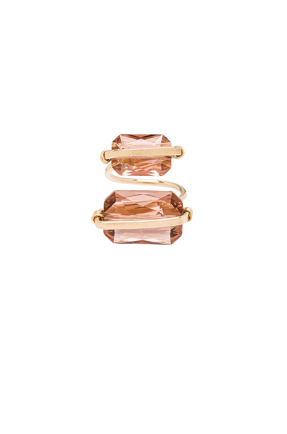 Mimi & Lu Peyton Ring in Blush Rose & Gold