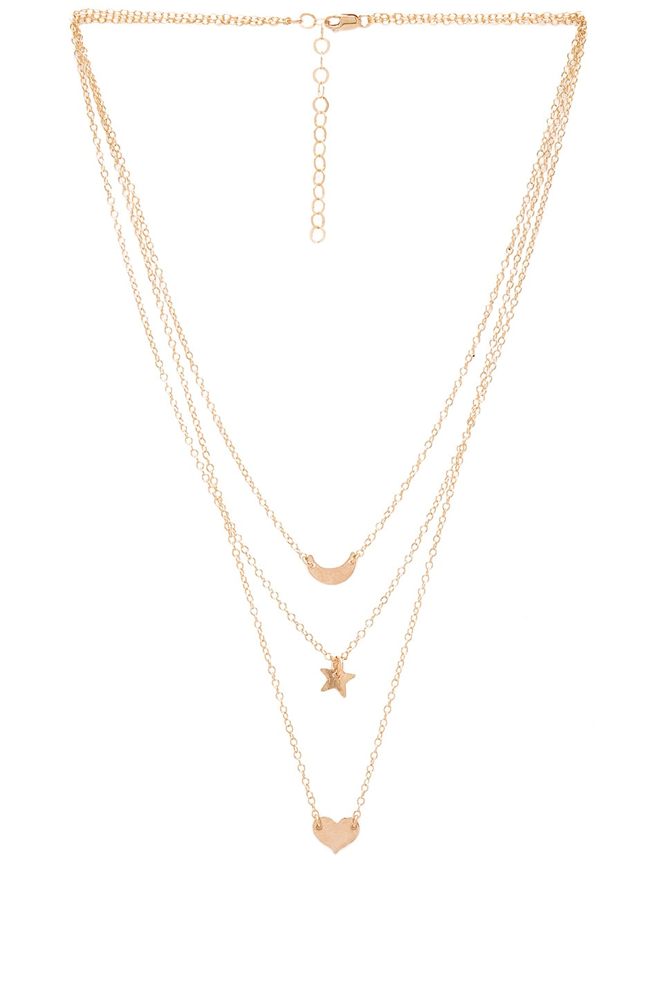 Mimi & Lu Wanderlust Necklace in Gold Fill