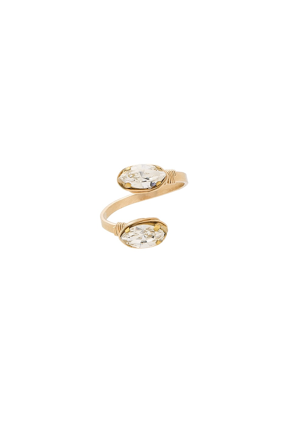 Mimi & Lu Scarlett Ring in Gold & Clear