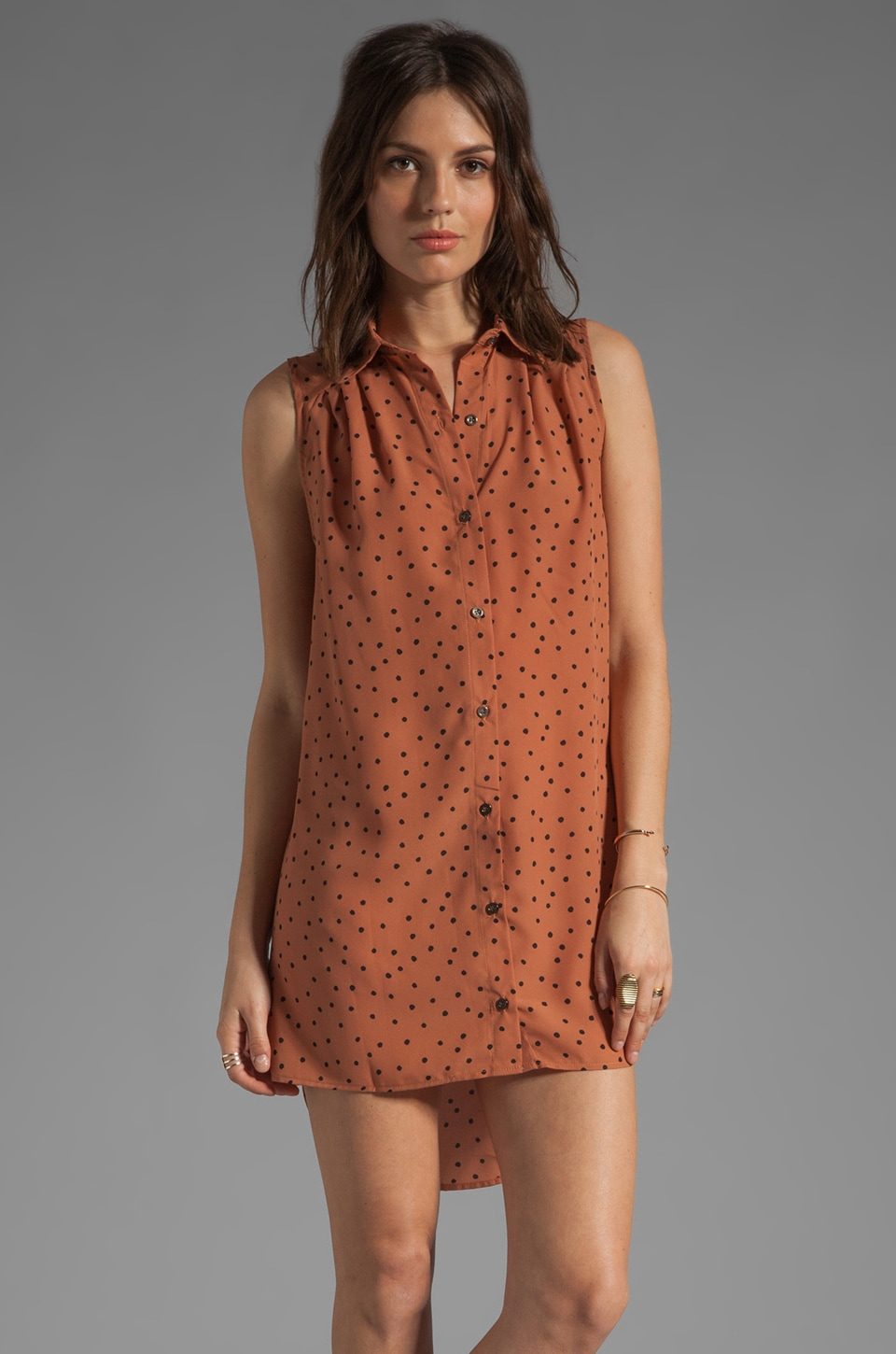 MINKPINK Going Dotty Shirt Dress in Multi