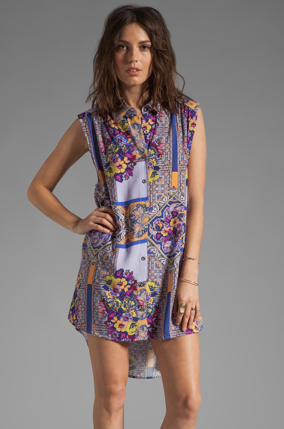 MINKPINK Distant Traveler Sleeveless Tunic in Multi