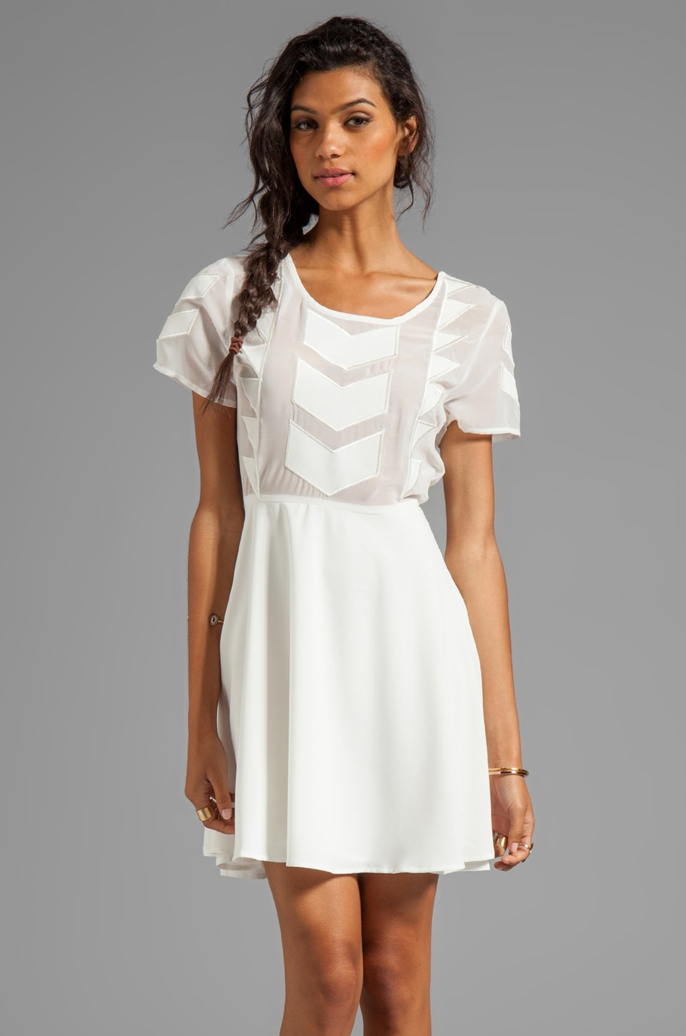 MINKPINK Zepher Dress en Blanc
