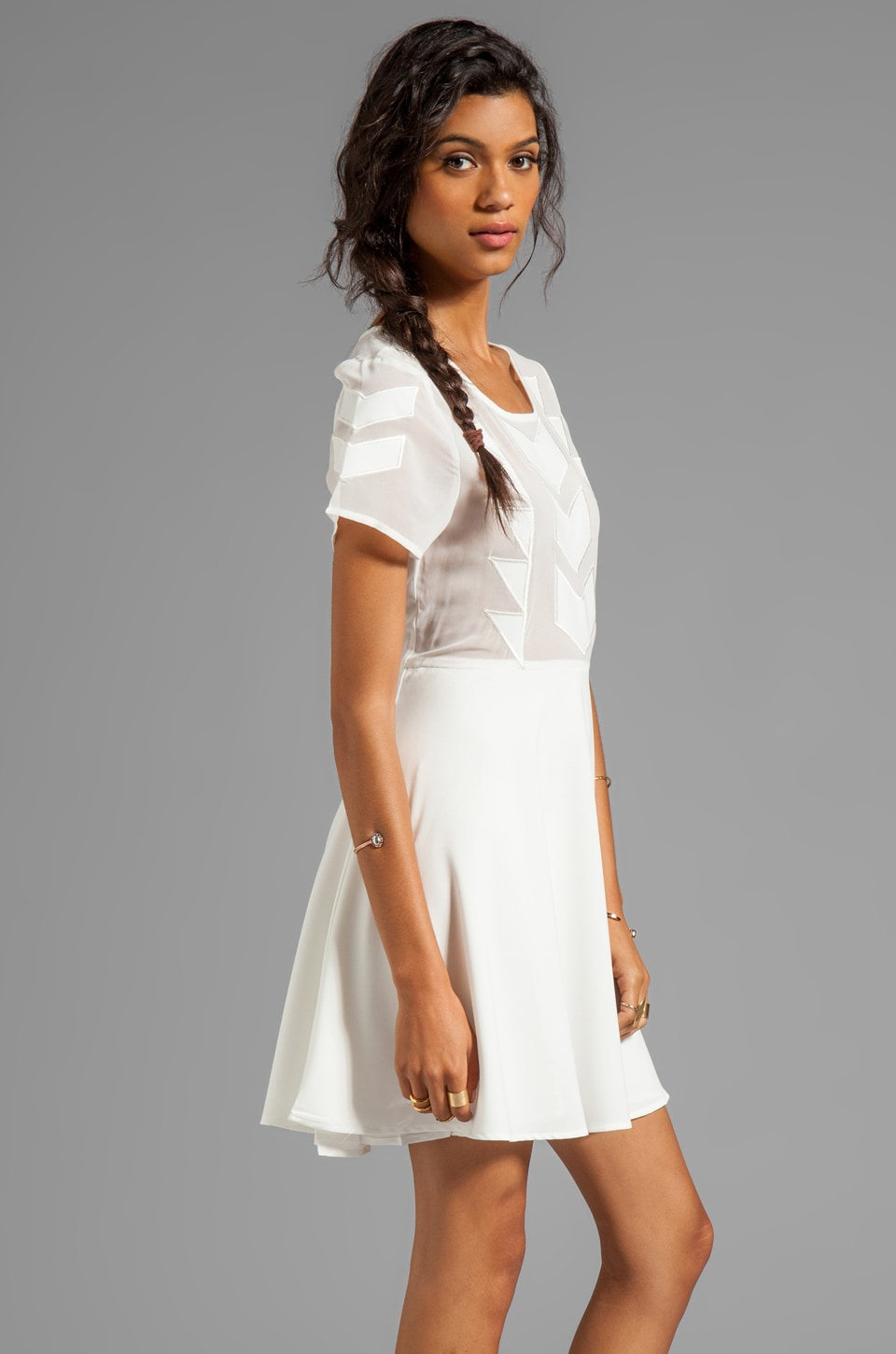 MINKPINK Zepher Dress in White