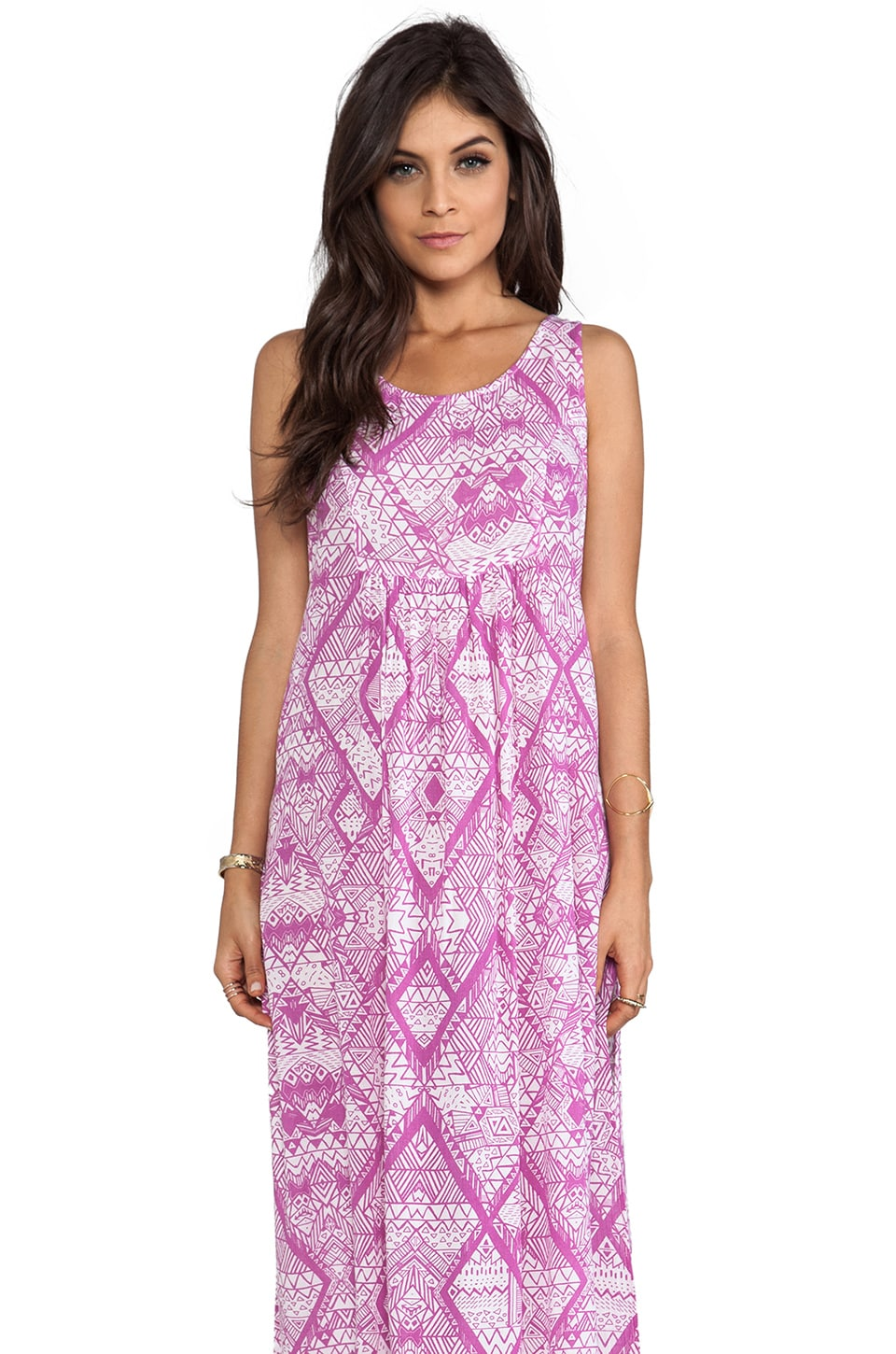 MINKPINK Scribble Maxi Tank Dress in Multi