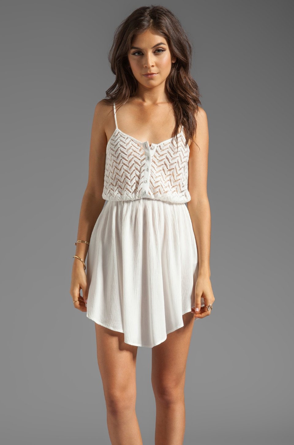 MINKPINK Getaway Sundress in White