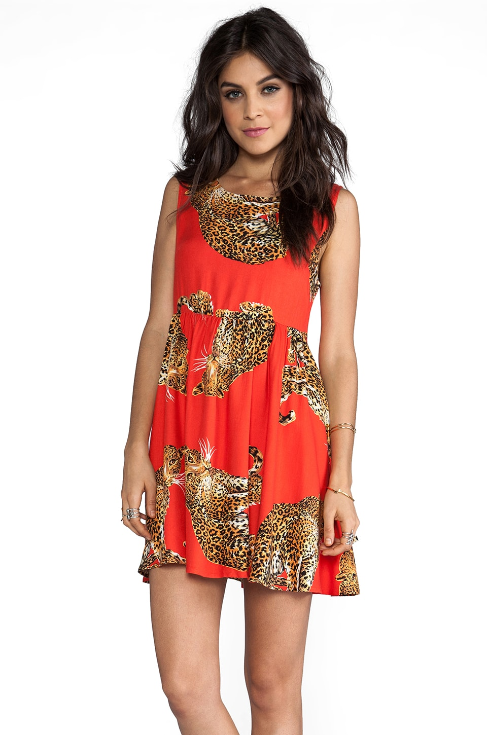 MINKPINK King of the Jungle Baby Doll Dress Multi