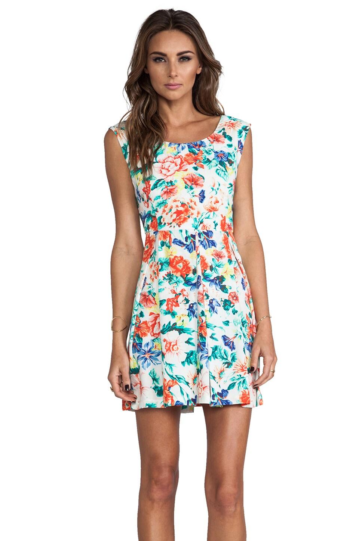 MINKPINK Flower Crush Box Pleat Dress in Multi