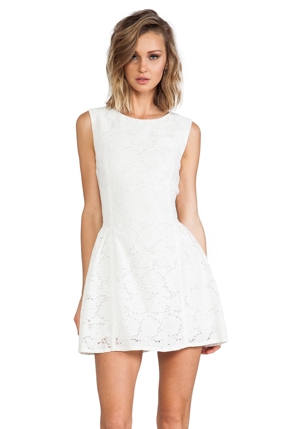 MINKPINK Sister Savior Lace Dress in White