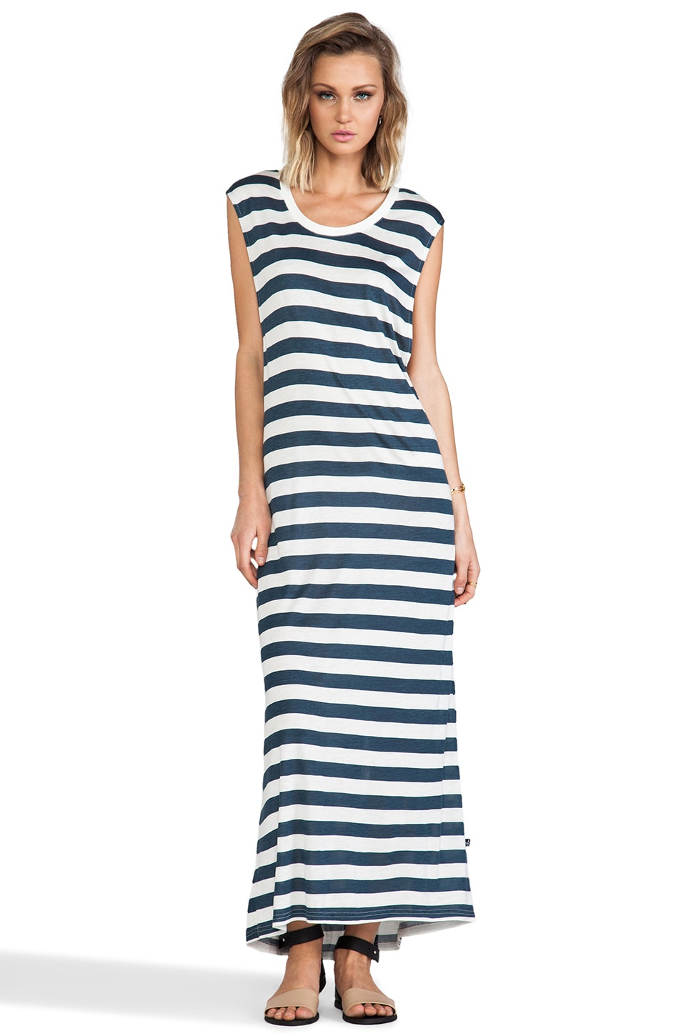 MINKPINK Wild Wild Life Maxi Dress in French Blue