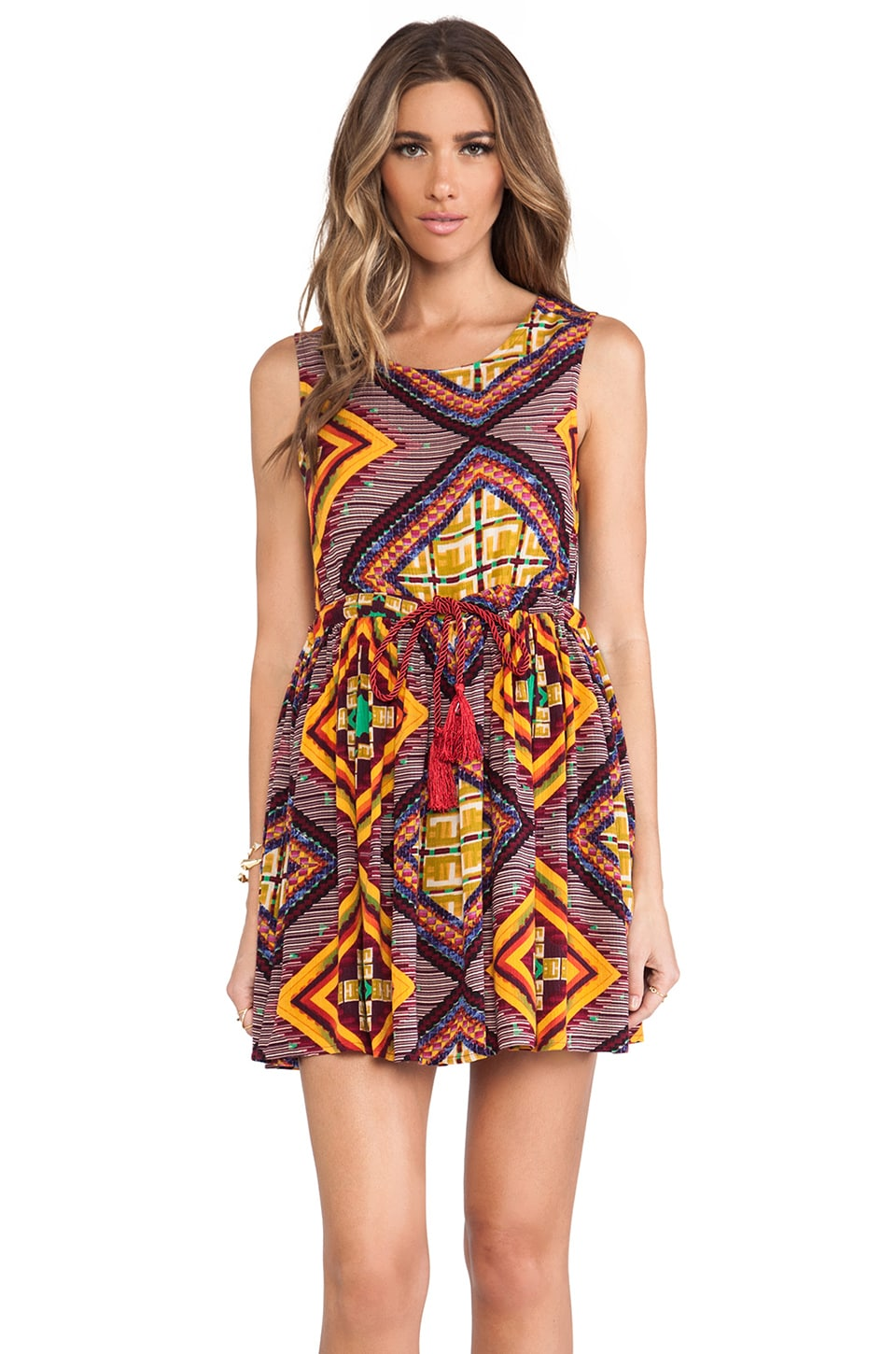 MINKPINK Moroccan Tile Dress in Multi
