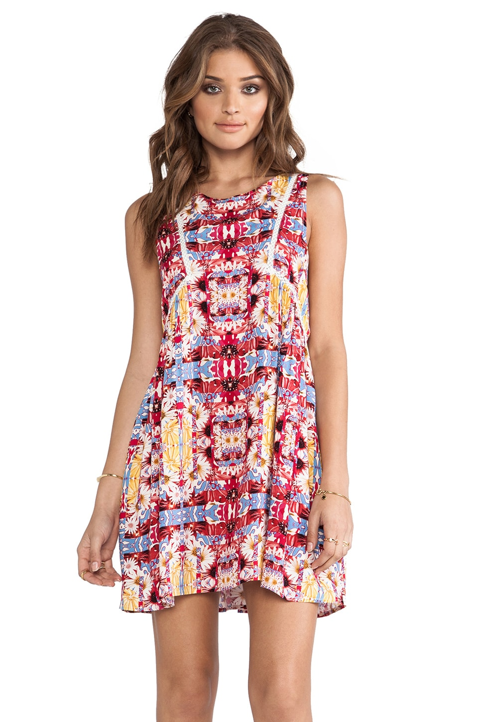 MINKPINK Combi Garden Dress in Multi