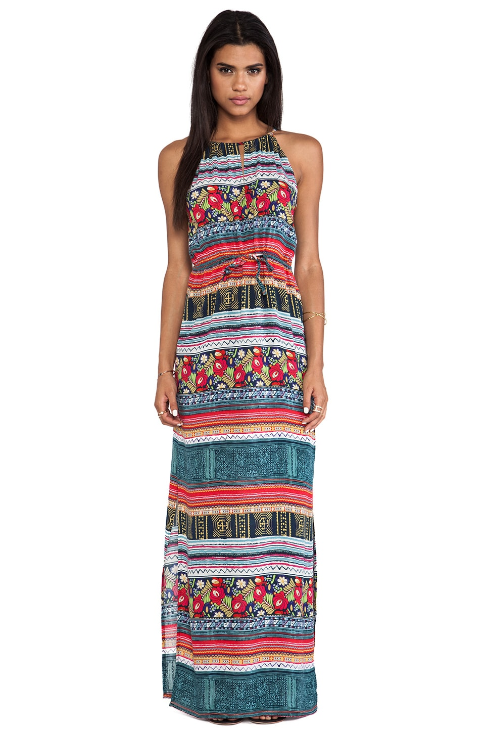 MINKPINK Folk Frenzy Maxi Dress in Multi