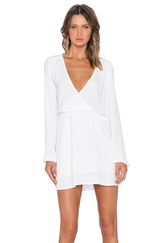 MINKPINK Dream On Cross Front Dress in Off White