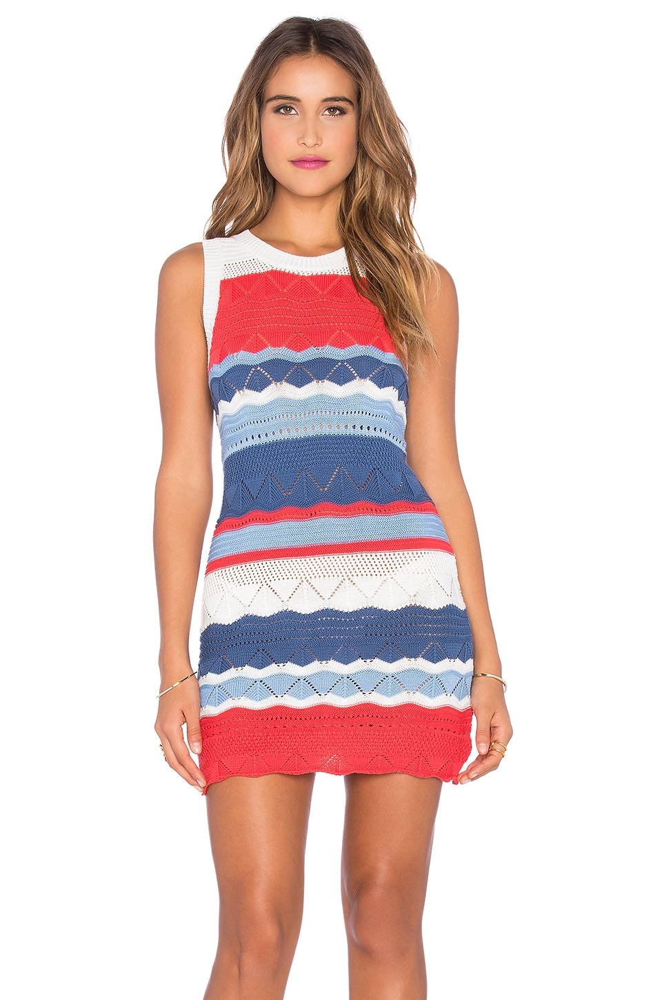 MINKPINK Future Divide Rib Dress in Multi