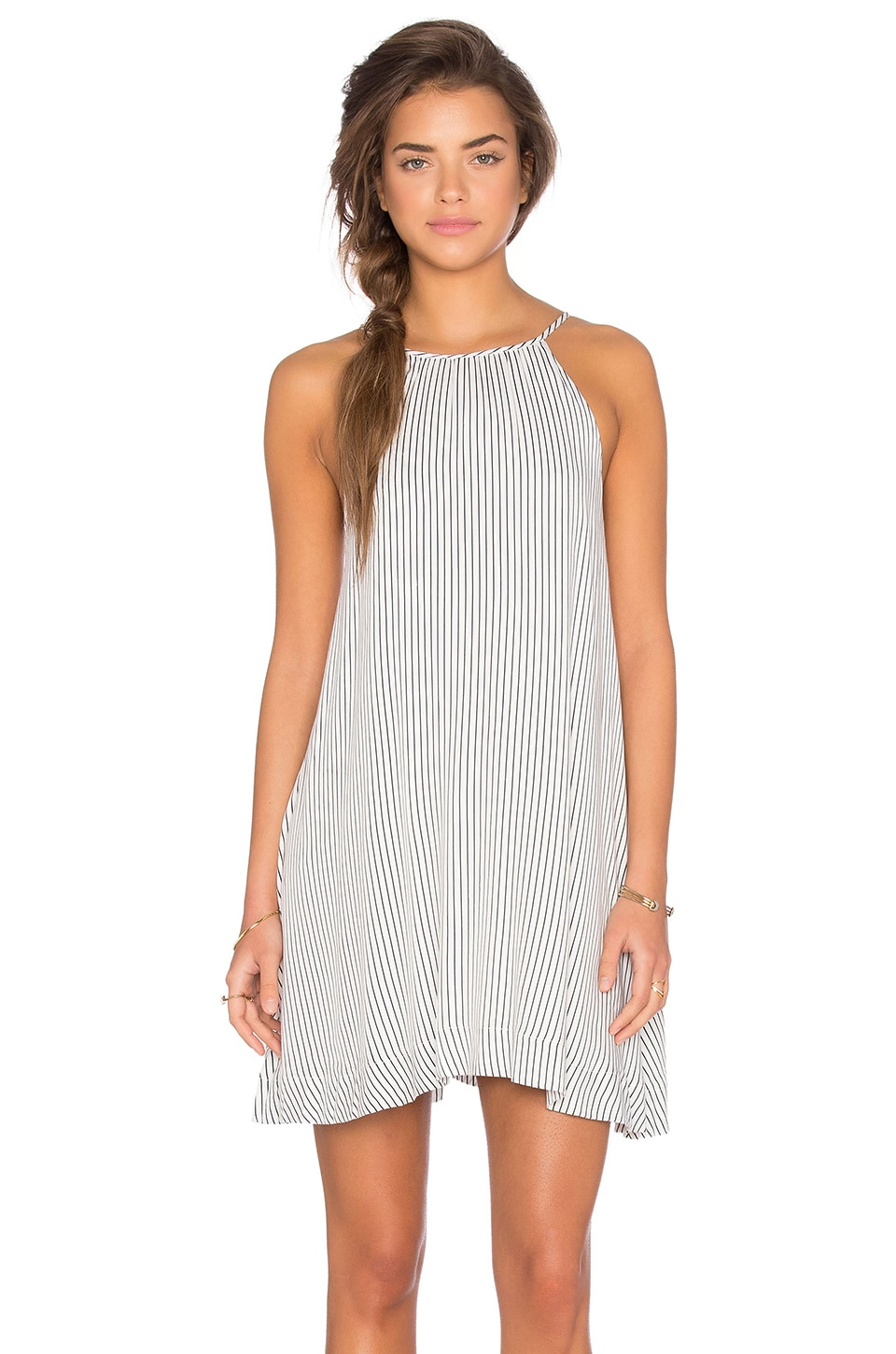 MINKPINK Spell Bound Dress in Navy & White
