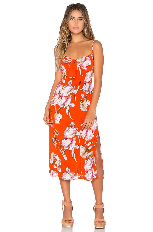 MINKPINK Tangerine Dream Midi Dress in Multi   REVOLVE