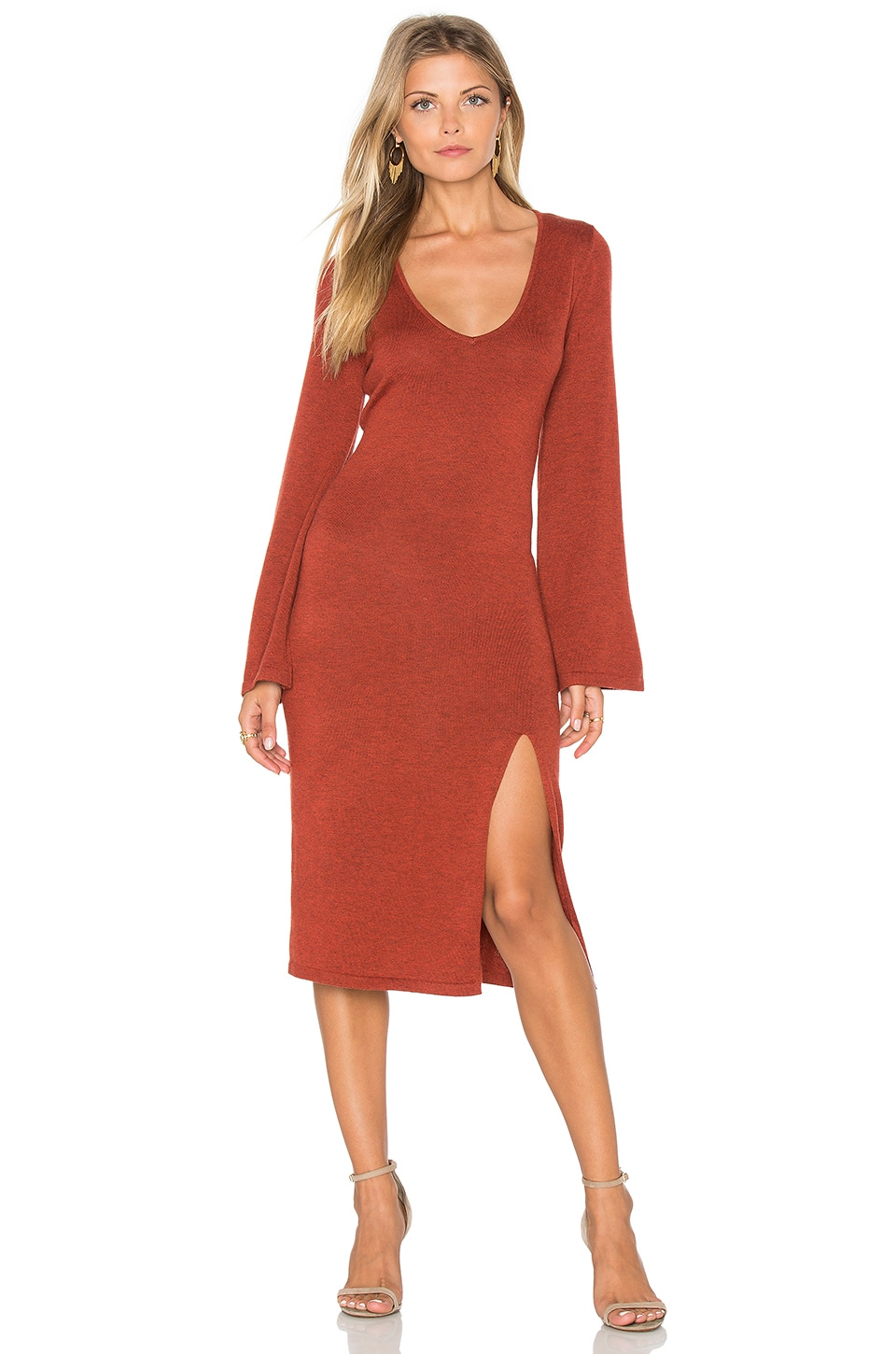 MINKPINK Start Over Dress in Brick