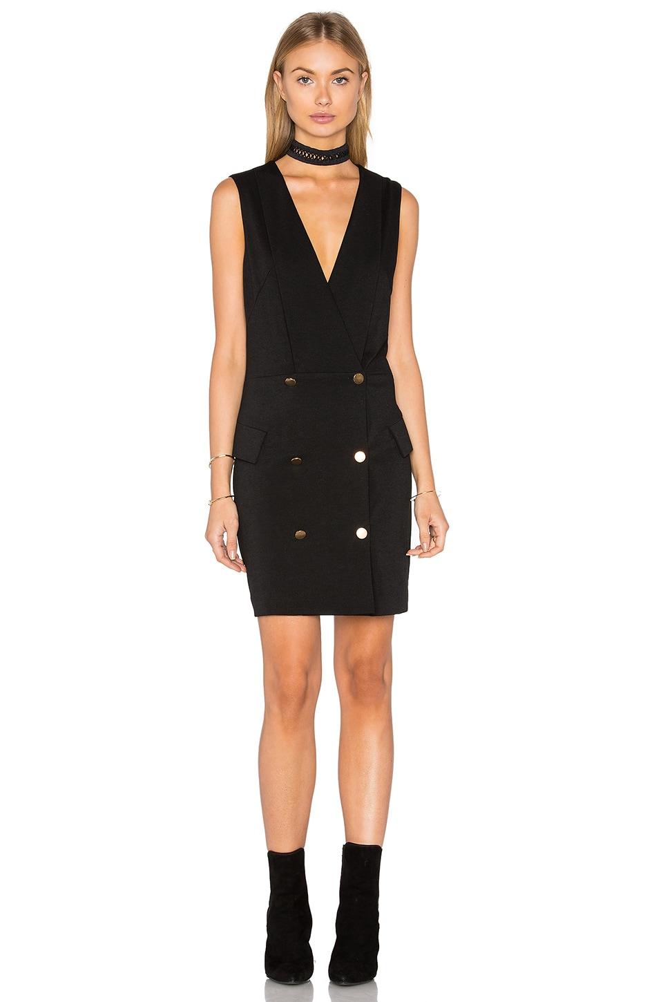 MINKPINK Crawford Blazer Dress in Black