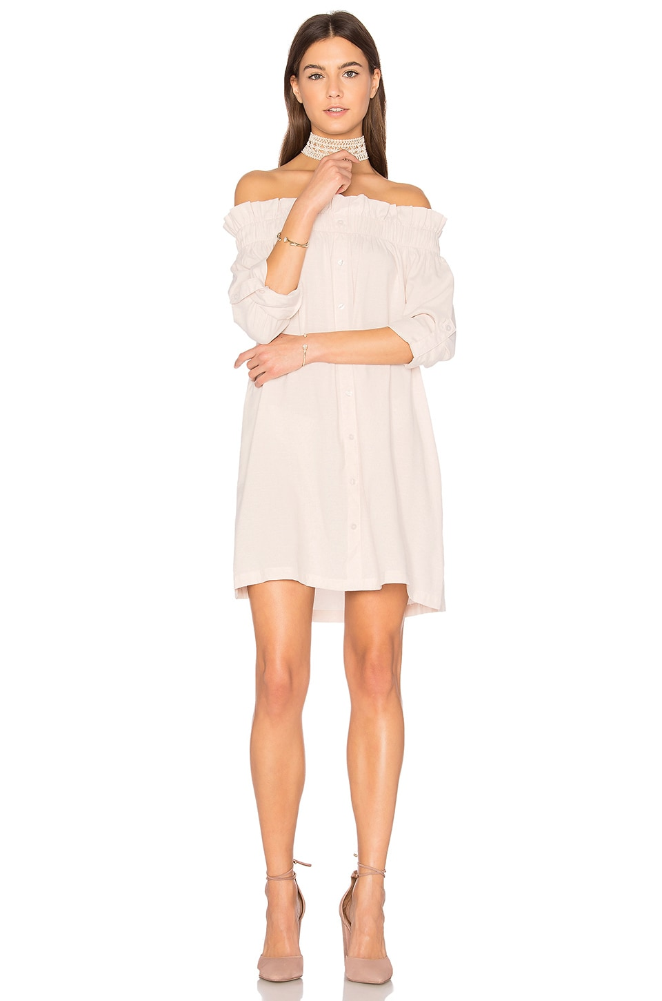Business Class Off Shoulder Dress by Minkpink