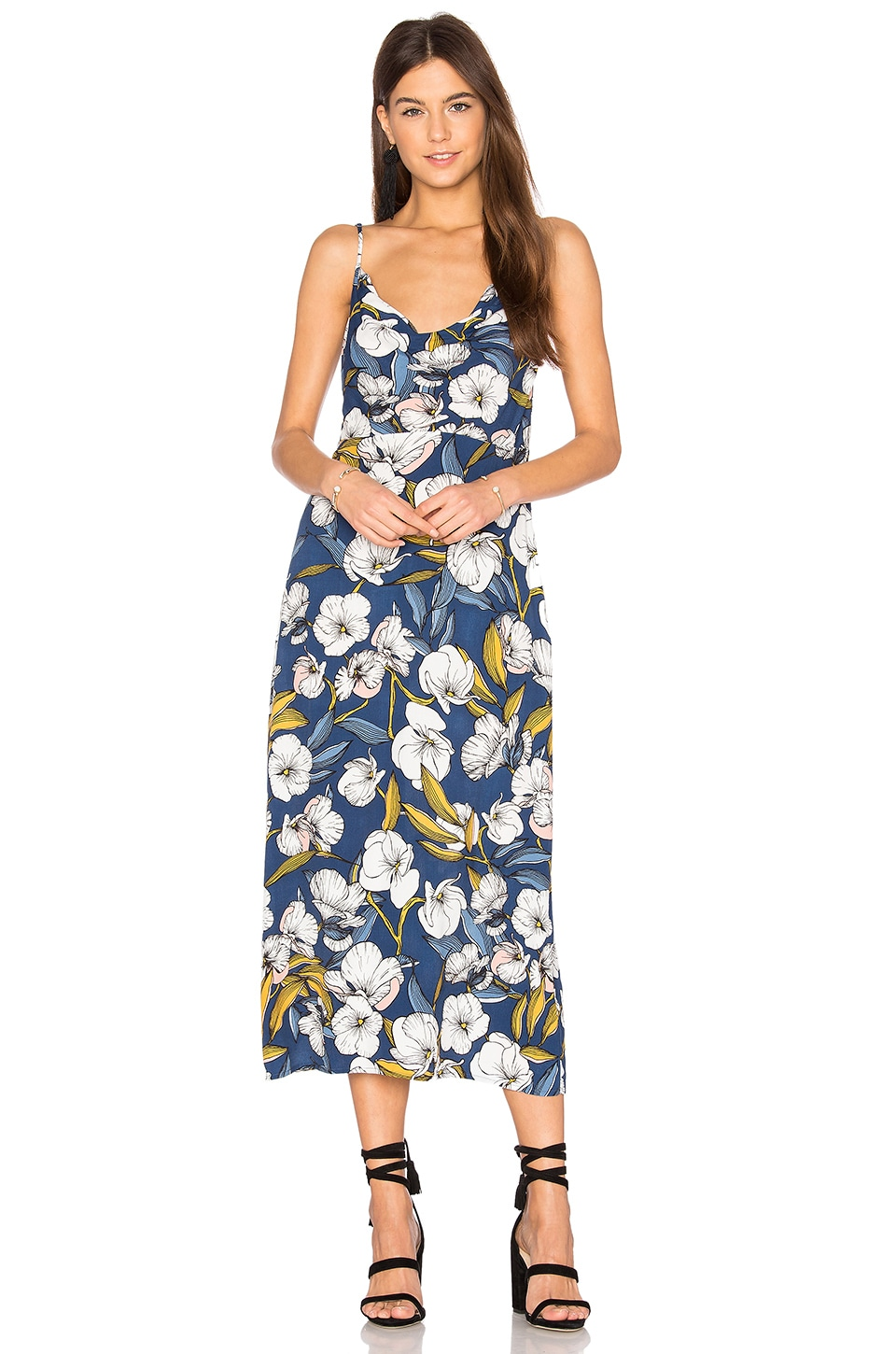 MINKPINK Pacifico Midi Slip Dress in Multi