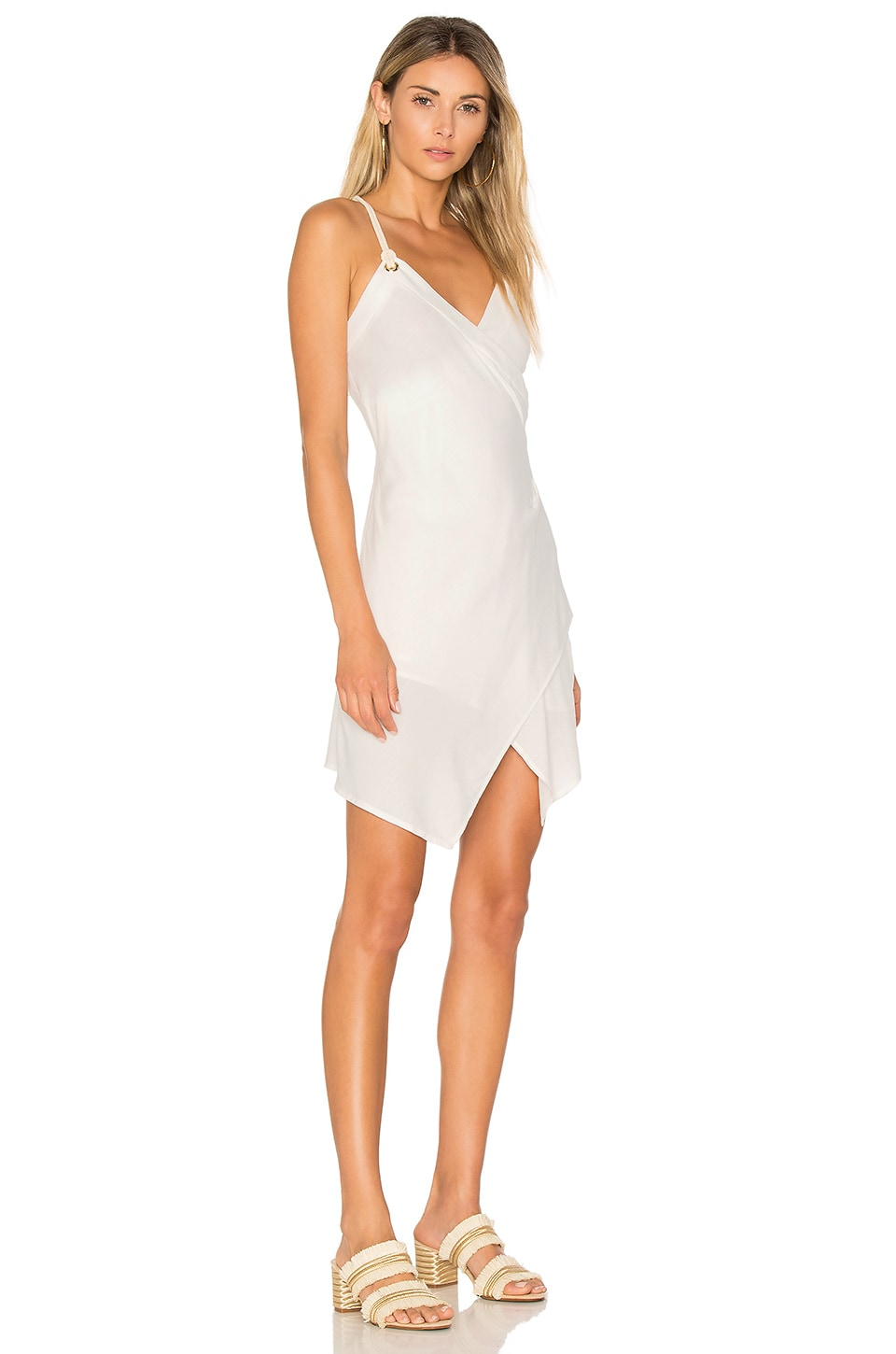 MINKPINK Desert Wanderer Cross Over Dress in White