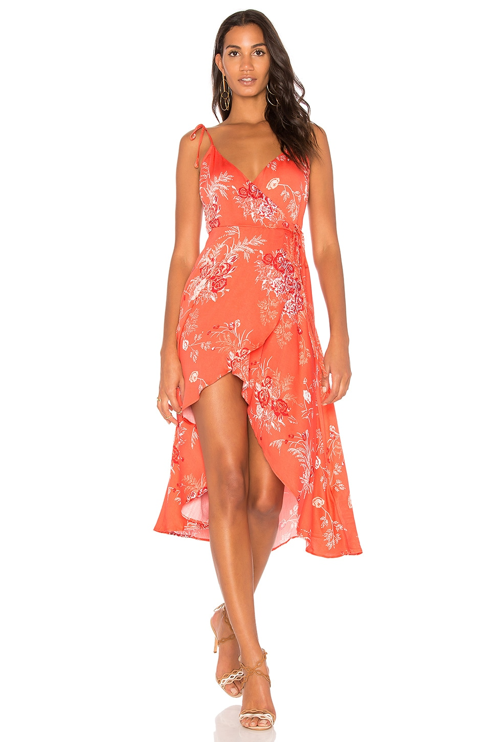 Hotsprings Waterfall Wrap Dress by MINKPINK