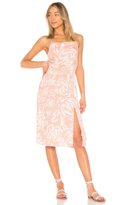 Coral Floral Midi Dress