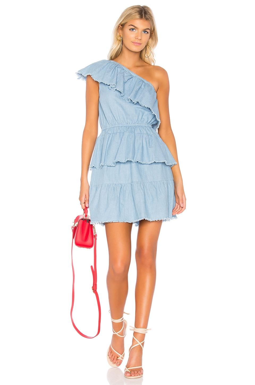 MINKPINK Ruff Stuff Dress in Light Blue