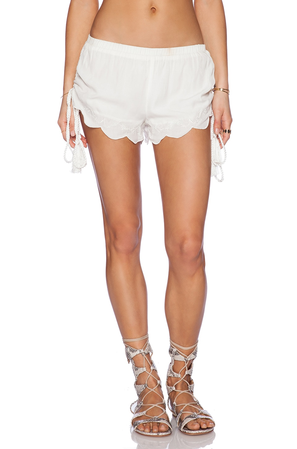 MINKPINK Castaway Shorts in White