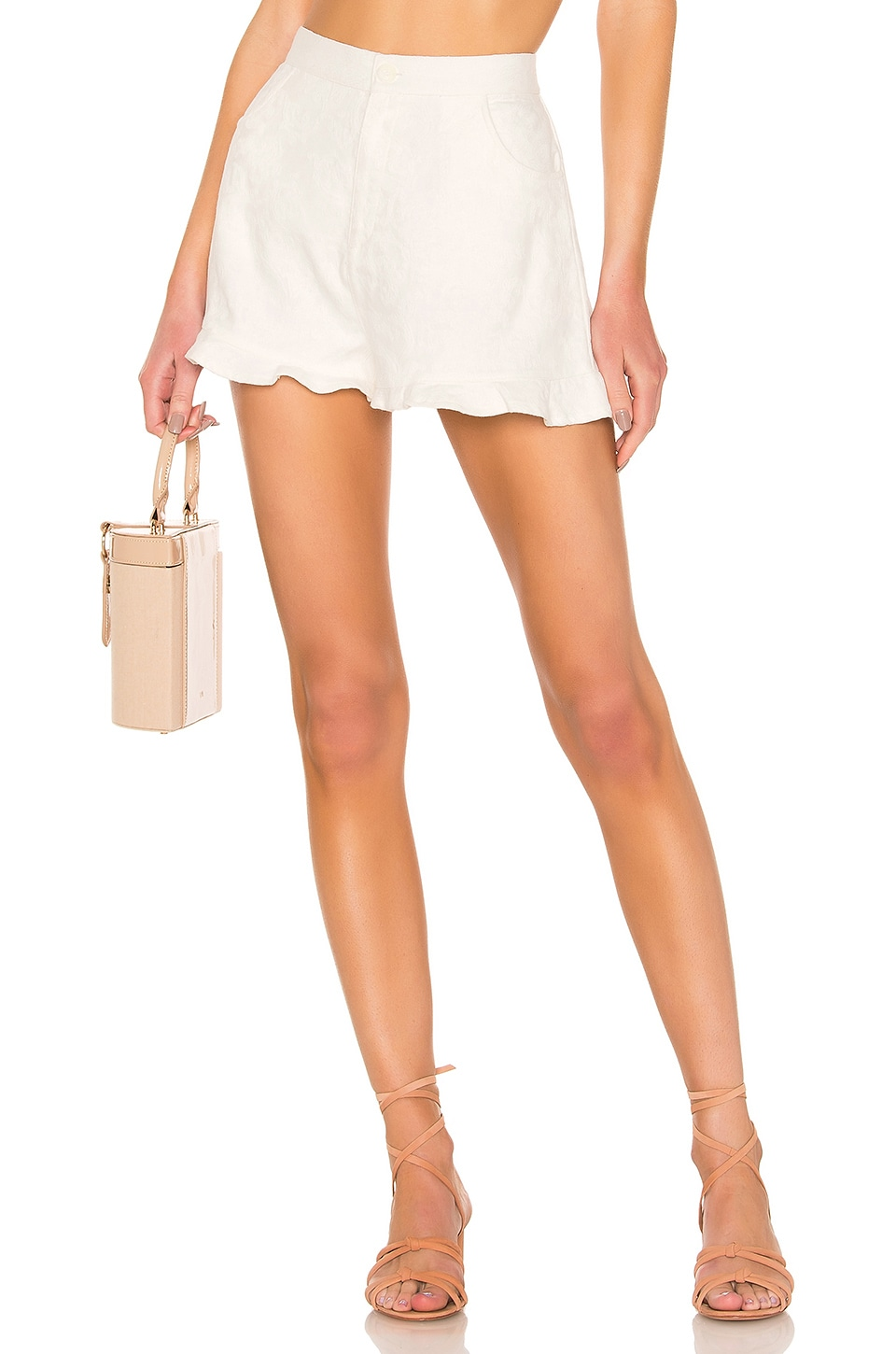 MINKPINK Complete Clarity Frill Short in White