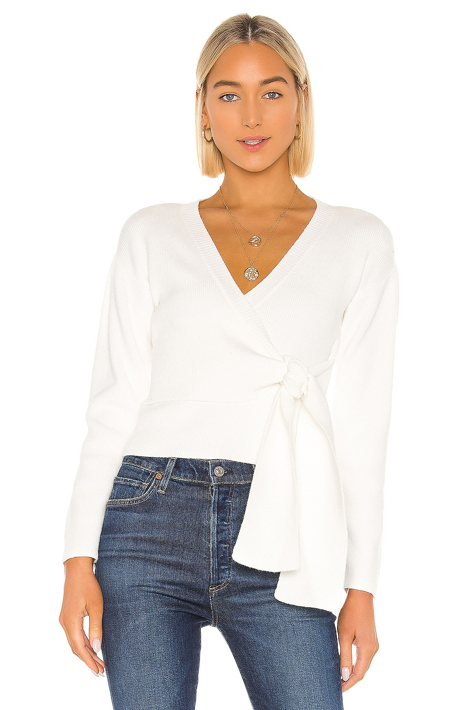 MINKPINK Wrap Cardigan in Off White