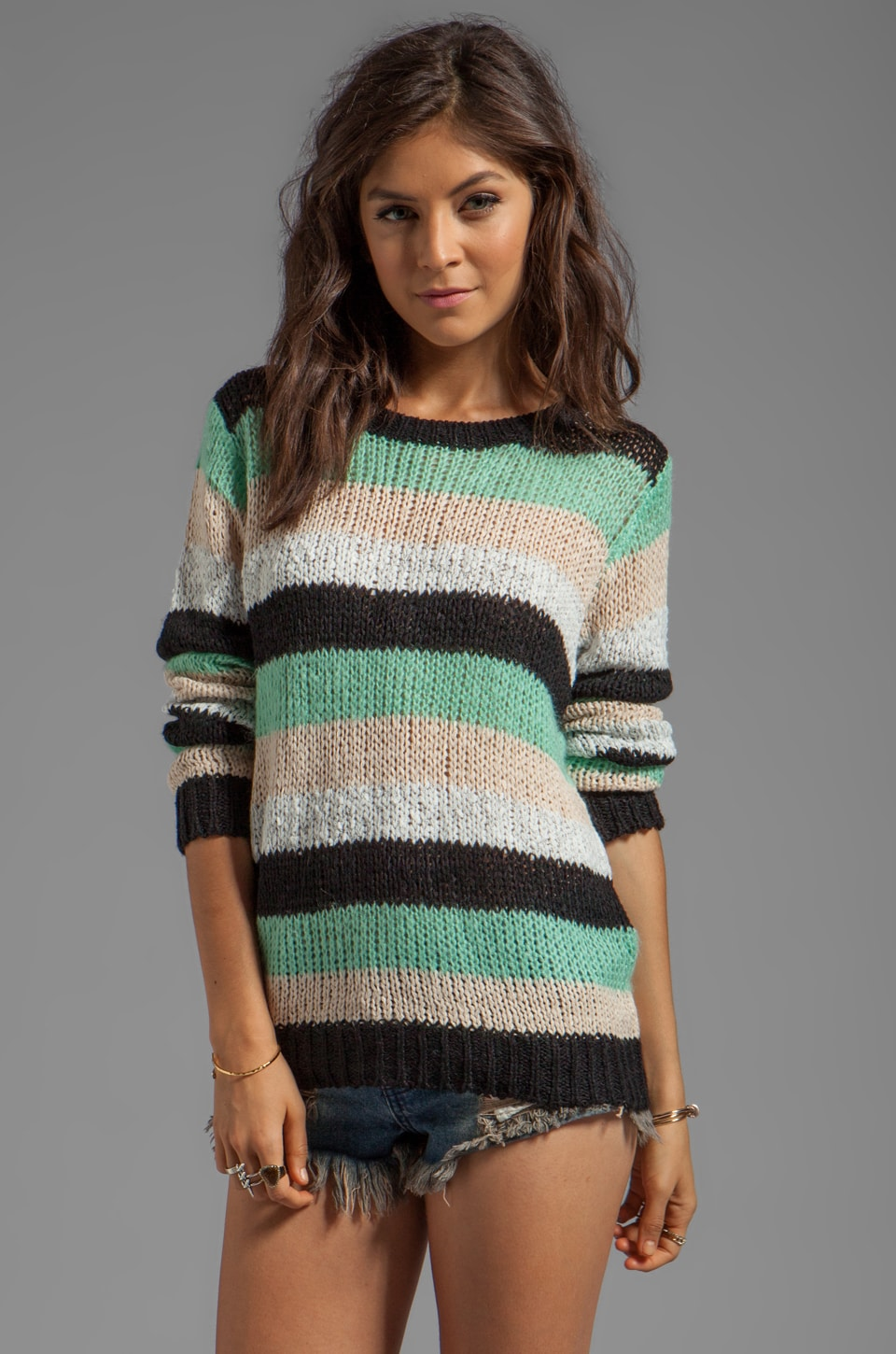 MINKPINK Candy Floss Pullover Sweater in Multi