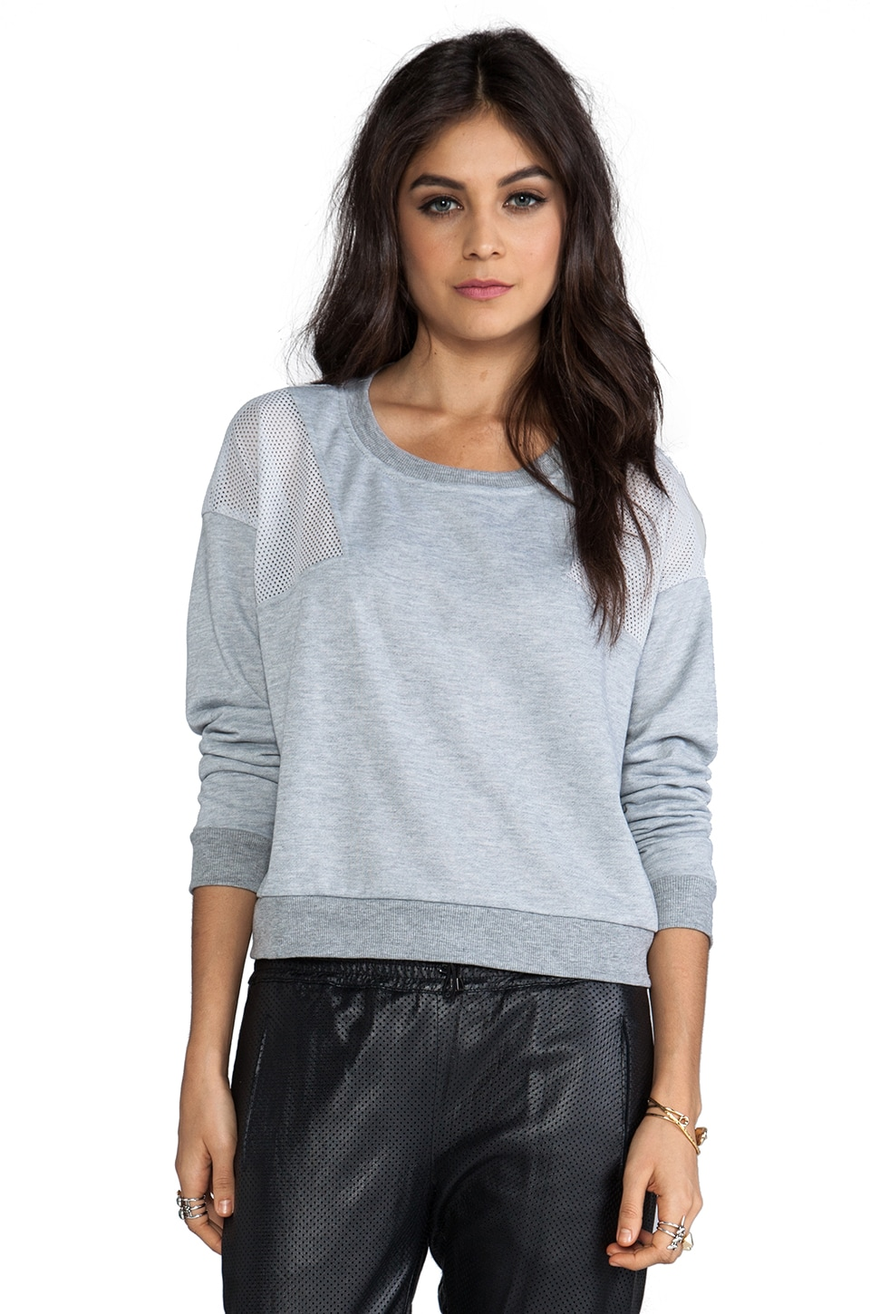 MINKPINK Sci Fi Long Sleeve Pullover in Grey Marle