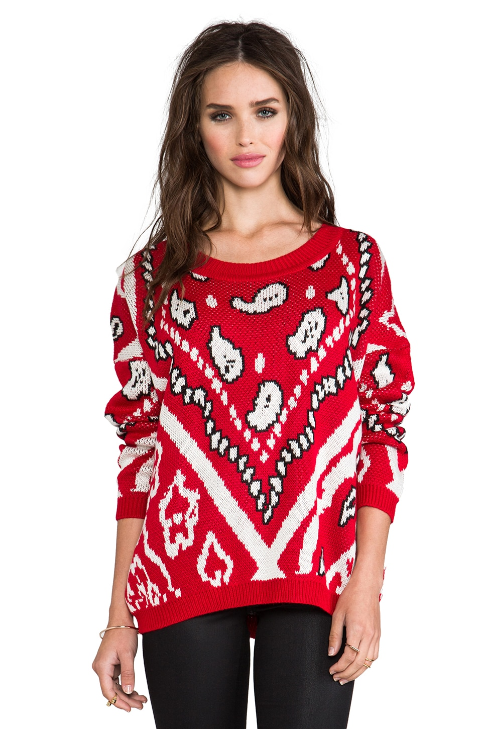 MINKPINK Street Smart Knitted Pullover in Multi