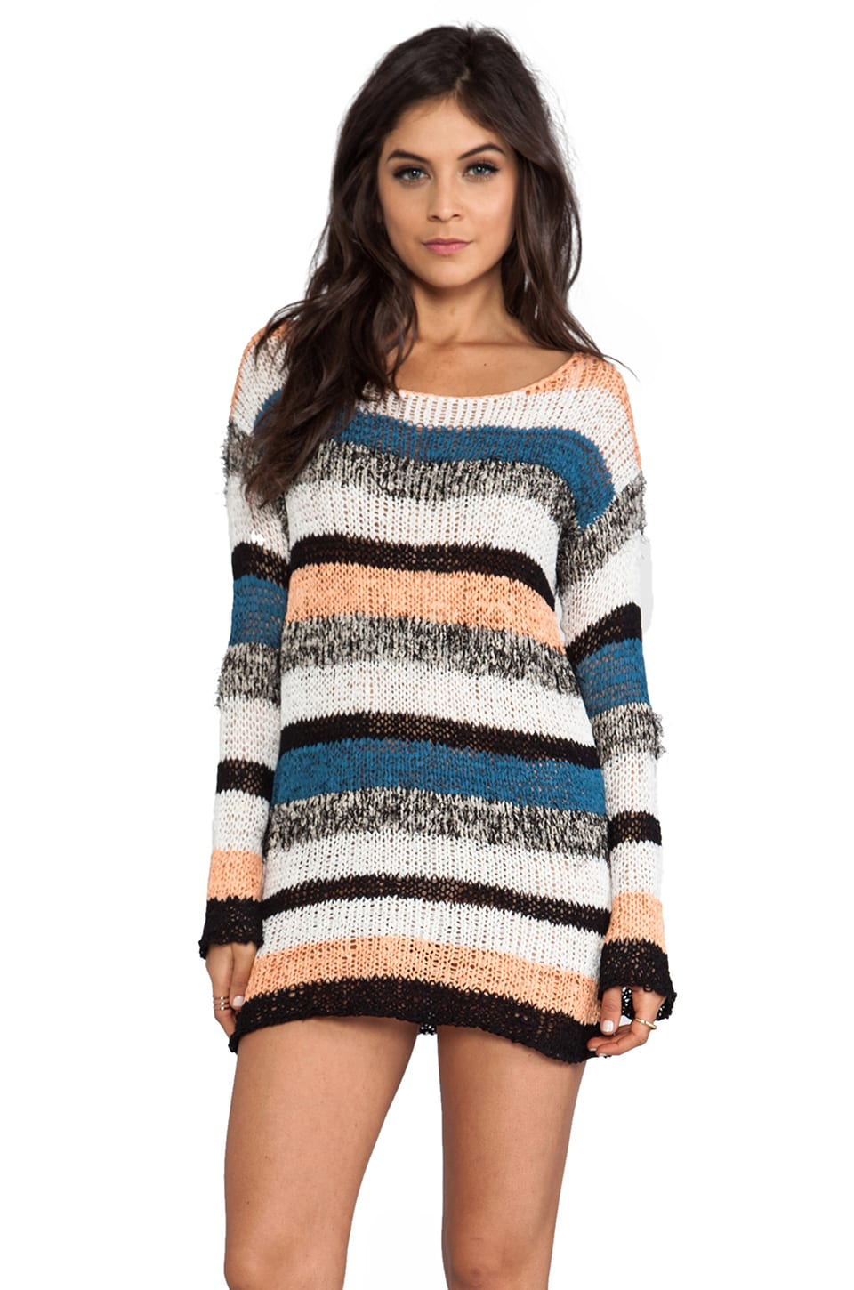 MINKPINK Wild In The Wind Tunic Knit in Multi