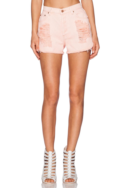 MINKPINK Almost Famous Slasher Short in Blush Pink